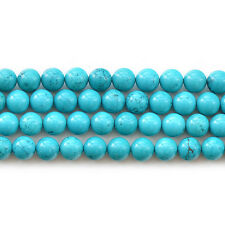 Blue Howlite Turquoise Gemstone Round Loose Beads 15'' 4mm 6mm 8mm 10mm 12mm
