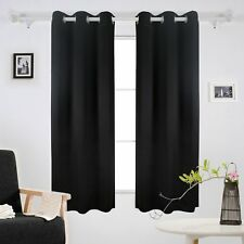 Deconovo Grommet Thermal Insulated Curtains Room Darkening Blackout Curtains Wi