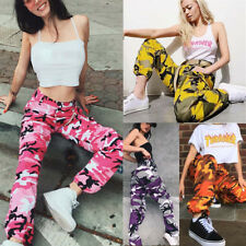 Fashion Women Sports Camo Cargo Pants Outdoor Casual Camouflage Trousers Jeans