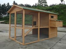 NEW GIANT Chicken Coop Poultry Cat Rabbit House CC058  upto 12 hens 8ft x 6ft