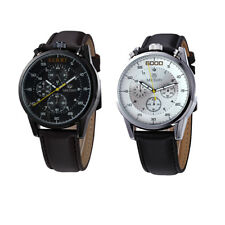 MagiDeal MEGIR Men Wristwatch Leather Band Military Chronograph Quartz Watch