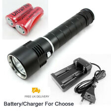 Underwater 3X CREE T6 LED Diving Scuba Flashlight Dive Torch Lamp 100M 8000Lm UK