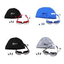 Perfeclan Swimming Goggles + Swim Cap Nose Clip Ear Plugs Protective Case