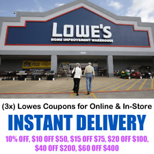Lowes Coupons - Online & In-Store Purchase (3x)