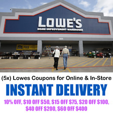 Lowes Coupons - Online & In-Store Purchase (5x)