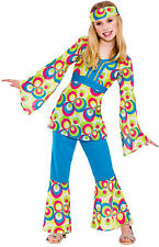 Polly Retro Hippie Girlie Childrens Fancy Dress NEW - Girl CARNIVAL DISGUISE