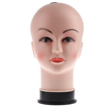 Skin Color Pretty Makeup Female Mannequin Head Wig Hat Glasses Display Stand