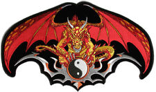 Embroidered Dragon Patch With Yin Yang Large