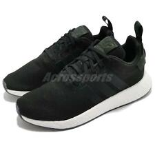 adidas Originals NMD_R2 Boost Black White Men Running Shoes Sneakers CQ2402