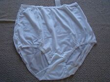 Vintage New Shadowline Nylon Classics Brief Panty Cotton Lined Sz 7 White