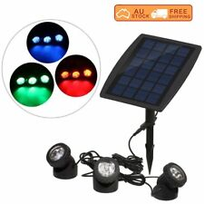 Solar Powered RGB/White LED Outdoor Spot Light Garden Landscape Yard Lawn Lamp