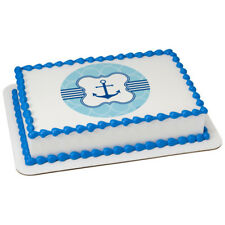 Nautical Sailboat Anchor Edible Cake OR Cupcake Toppers Decoration