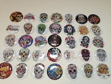 Buttons, Magnets, Bottle Caps or Stickers - Day of the Dead