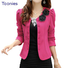 2018 Double Breasted Floral Blaser Women Suits Elegant Suit Jacket Casual