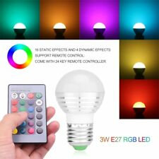 E27 3W Dimmable RGB LED Light Color Changing Bulb with Remote Control Lamp