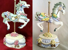 MUSICAL MUSIC BOX PORCELAIN CAROUSEL Heritage House Melodies Fair Collection