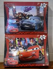 DISNEY PIXAR CARS FINN McMISSILE+ MATER Or LIGHTNING McQUEEN 24  PUZZLE JIGSAW
