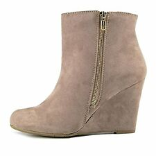 Report Womens RUSSI Fabric Almond Toe Ankle Fashion Boots