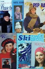 Knit Crochet PATTERNS HATS SCARFS MITTENS *YOU CHOOSE