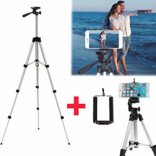 Professional Camera Tripod Stand Mount + Phone Holder for Cell Phone iPhone AT