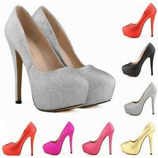 NEW LADIES WOMENS Stiletto HIGH HEEL COURT SHOES SIZE 4 5 6 7  UK Size