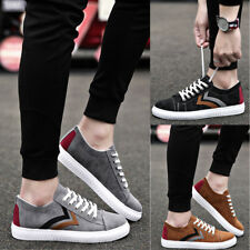 New Mens Canvas Lace Up Casual Spring Lightweight Sneakers Casual Shoes Size