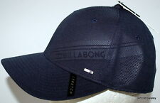 BILLABONG CAP HAT NEW MENS  SLICE  STRETCH FIT NAVY Arch Brim Surf Logo Skate