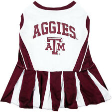 Texas A&M Aggies NCAA Licensed College Cheerleader Dog Dress xs, sm, md,
