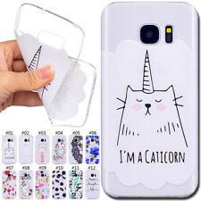 Cute Painted Silicone TPU Rubber Soft Cover Case Back Skin For Samsung Galaxy S7