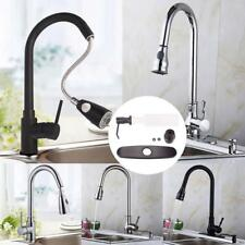 "Fashion 18"" Pull Down Kitchen Spray Sink Faucet with Soap Dispenser Plate Cover"