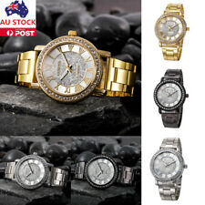 Luxuy Women Rhinestone Stainless Steel Watch Ladies Quartz Analog Wrist Watch