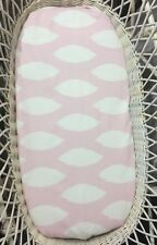 Bassinet Moses Boori fitted sheets baby pink and white leaves 100% cotton