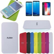 AUDEW Qi Wireless Charger Charging Pad + USB Cable For iPhone X / 8 8+ S8 Note 8