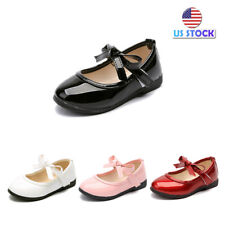 Fashion Toddler Kids Girls Baby Princess Dance Soft Leather Casual Single Shoes