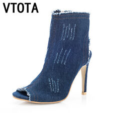 VTOTA Ankle Boots For Women 2017 Fashion Summer Boots High Heel Boots Shoes