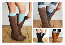 Women's Flower Stretch Lace Boot Cuffs Toppers Leg Warmers Socks 1 Pair
