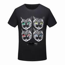 Fashion Men's Cat Printing patterned T-shirt Short Sleeve Casual 2ColorsT-Shirt