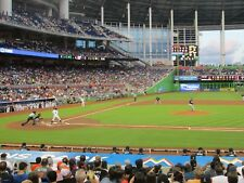 Marlins vs Milwaukee Brewers 7/11/18 (Miami) Row 1 - Behind Brewers Dugout
