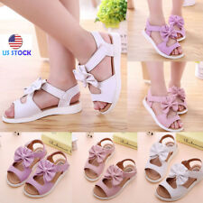 Infant Baby Kid Girls Soft Sole Toddler Summer Party Flat Open Toe Sandals Shoes
