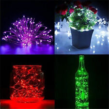 Wedding Party Xmas Decor Battery Powered Copper Wire LED String Light 2M 20LEDS