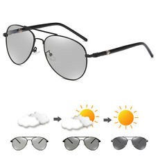 Photochromic Mens Polarized Aviator Driving Sunglasses Eyewear Travel Fashion