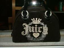 Juicy Couture embroidered speedy satchel Cute Details!! black velveteen mat'l