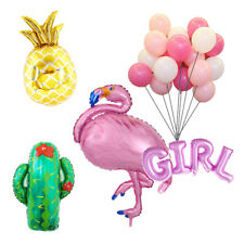 Tropical Flamingo Boy Girl Pineapple Cactus Balloons Baby Shower Party Decor