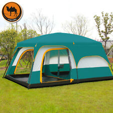 Camel Ultralarge 6 10 12 Double Layer Outdoor Family Waterproof Camping Tent