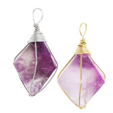 MagiDeal Amethyst Jewelry Natural Crystal Energy Stone Pendant Necklace Gift