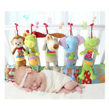 Cute Baby Hanging Toy Musical Newborn Kids Lovely Animal Pulling Plush Play Doll
