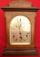 Vintage Mechanical Mantel Clock with 3 Chimes and Wood Case for Parts or Repair