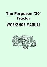 Ferguson TE20 tractor manual (Grey Fergy)