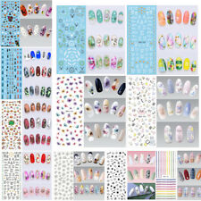 2pcs 3d nail art transfer stickers flower decals manicure decoration tips
