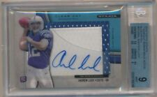 ANDREW LUCK 2012 TOPPS STRATA RC CLEAR CUT AUTO 2 COLOR PATCH #/75 BGS 9 MINT 10